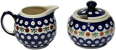 Polish Pottery Sugar Bowl and Creamer GU694/711-41