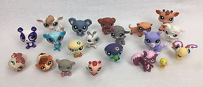 Littlest Pet Shop LPS Mixed Pets Lot of 19 Dogs Birds Reptiles Cow Farm Animals
