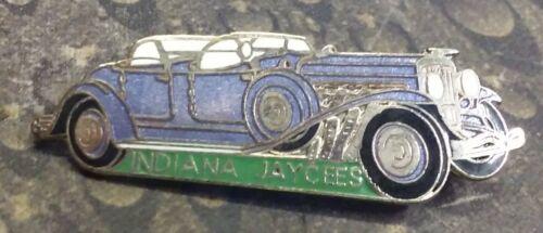Indiana Jaycees Purple Bentley car vintage pin badge