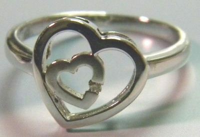 KREMENTZ DARING DIAMONDS STERLING Ring heart SZ 8 usa made Daring Diamonds Diamond Ring