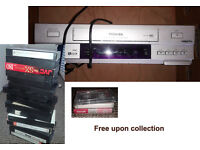 VHS recorder / VHS cassettes / Audio tapes