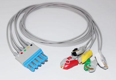 Compatible Philipshp M1971a Ekg Ecg 5 Leads Leadwrie Cable Clip Iec