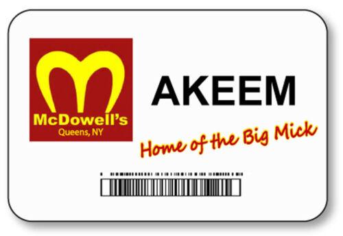 AKEEM COMING TO AMERICA MCDOWELLS BIG MICK NAME BADGE HALLOWEEN PROP MAGNET BACK