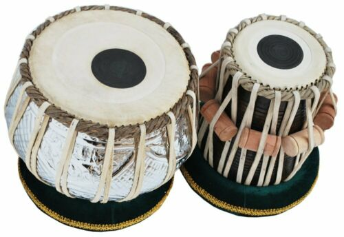 SAI Musicals Tabla Set, 2.5 Kg Designer Chromed Copper Bayan, Sheesham Dayan