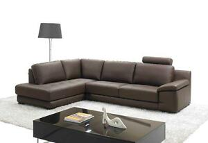 BRAND NEW - REAL LEATHER SECTIONAL SOFA for 6 persons * 3 colors