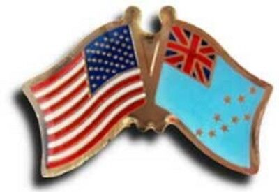 Wholesale Pack of 50 USA American Tuvalu Friendship Flag Hat Cap lapel Pin