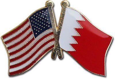Wholesale Pack of 50 USA American Bahrain Friendship Flag Hat Cap lapel Pin