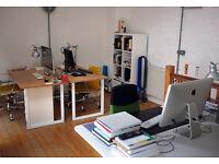 Desk space in friendly Brighton design studio