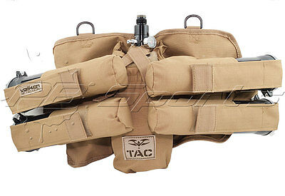 Valken V-TAC 4+1 Pod Tank Harness Paintball Pack Tan Tactical Pod Pack NEW