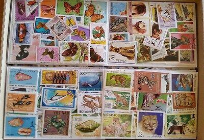 3000 verschiedene Briefmarken Tiere - 3000 different animals - ansehen  - look