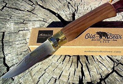 Antonini knives Italy Old Bear small ring lock knife Walnut 717 Boker as Opinel ()