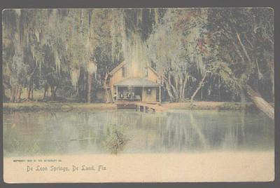 Waterfront Cottage (Postcard DE LAND Florida/FL Waterfront Cottage/Cabin 1906?)