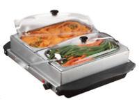 Food Warmer - Mini 2 Station Buffet with Warming Tray BNIB