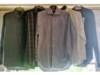 STYLISH MEN'S SHIRTS COLLECTION: 3X ZARA MAN SLIM FIT, 1X RACING GREEN STRIPPED, 1X M&S WHITE SHIRT