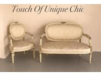 French louis style sofa and chair