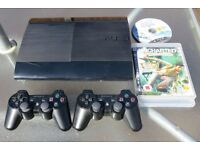 Sony Playstation 3 PS3 console 500GB hard drive & 10 games inc. Skyrim, Last of US & 2 controllers