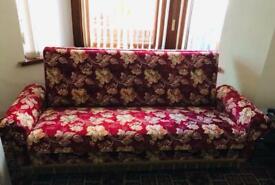 2x luxury velvet sofa beds