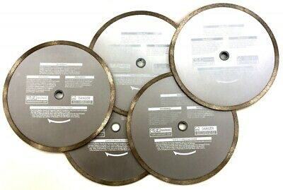 "10"" Continuous Rim Cutting Diamond Tile Saw Blade Granite Stone Porcelain 5 pack (Tile Saw Blade 10)"