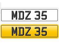 MDZ 35 Dateless Private number plate for sale