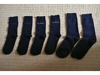 3 Pairs Mens Black Pierre Cardin Socks Size 9-10