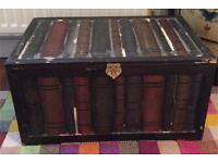 Books case wooden trunk