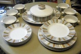 Large Quantity of Midwinter Retro Dinnerware - Tureen, plates, soup bowls etc.