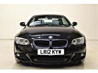 BMW 3 SERIES 2.0 320D M SPORT 2d AUTO 181 BHP AIR CON + BLUETOOTH + LEATHERS (black) 2012