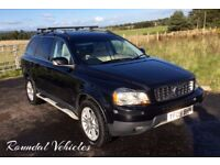 Top of the Range 2009 Volvo XC90 2.4 D5 SE LUX Black Cream Lthr Nav Side Steps Aug 18 MOT GORGEOUS !