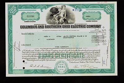 Columbuis & Southern Ohio Electric Co ( now AEP American Electric Power ) stock