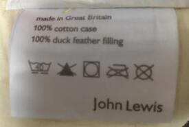 4 John Lewis duck feather cushion inserts