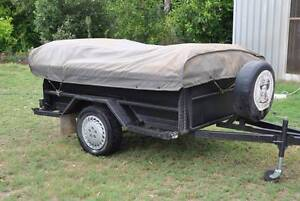 Cameron Canvas camper trailer with full annexe pegs and poles. Barmera Berri Area Preview
