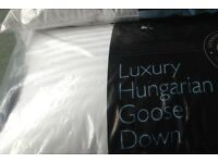 Luxury Hungarian Goose Down Pillows x 2