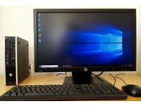 "HP Ultrasmall Quad Core i5 PC Setup,8GB RAM+HP 23"" IPS LED,Wifi,win 10 Desktop/Computer"