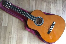 Valencia 3/4 Size Spanish Classical Guitar with carrying bag 6 nylon String