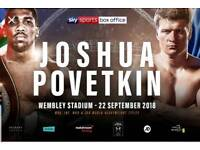 Joshua v Povetkin - Resale, great x4 floor tickets!