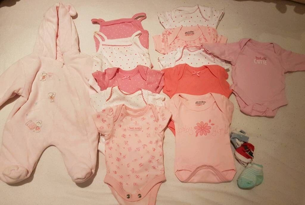 Girl tiny baby clothes bundle