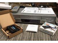 Panasonic NV-FJ620 VHS / S-VHS playback VCR plus Scart to HDMI Converter