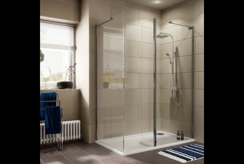LUXURIANT RECTANGULAR SHOWER ENCLOSURE WITH WALK-IN ENTRY 1400M X ...