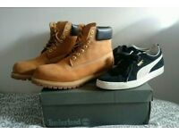 Timberland Classic Boot UK 10.5 and Puma Suede Classic UK 10