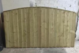 Bow Top Heavy Duty Pressure Treated Wooden Fence Panels