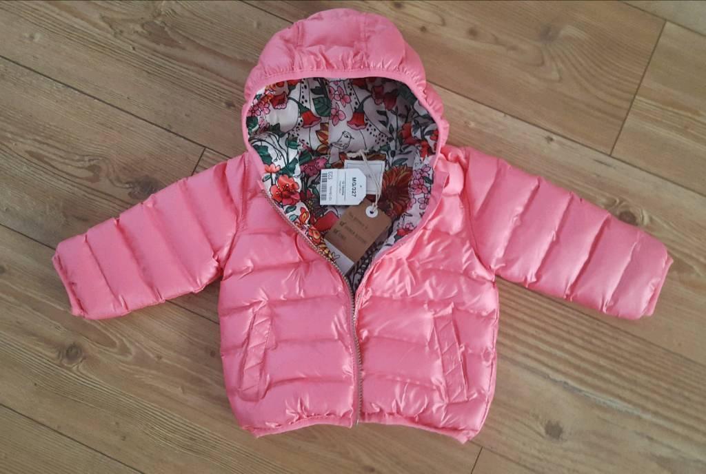 6113098ee BNWT NEXT baby girl winter pink coat size 12-18 months