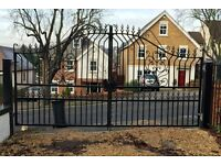 Quality Victorian Period Style Property Wrought Iron Gates