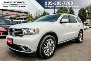 "2016 Dodge Durango LIMITED AWD, SUNROOF, DVD, 8.4"" DISPLAY, 20"""