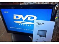 """18.5"""" LCD TV / DVD Player. Remote and User Manual. Good Working Order. 1x HDMI, 1 x USB"""