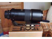 Nikon 300mm f 4D IF AF-S ED telephoto lens.