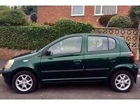 Dark Green Toyota YARIS, Very Good condition, 2 owners, fun to drive.
