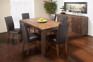 RECTANGLE RUSTIC OAK DINING TABLE   -  FREE DELIVERY