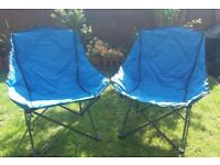 XL Bucket camp chairs x2