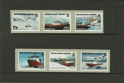 BRITISH ANTARCTIC TERRITORY-2011 ROYAL RESEARCH SHIPS COIL STAMPS S/ADH -MNH