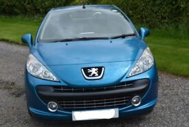 £1500 ONO Peugeot 207cc 1.6 HDI 16 V Sports Convertible. excellent condition. lady owner.